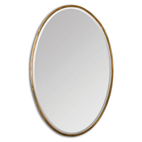 Lane Wall Mirror, Gold
