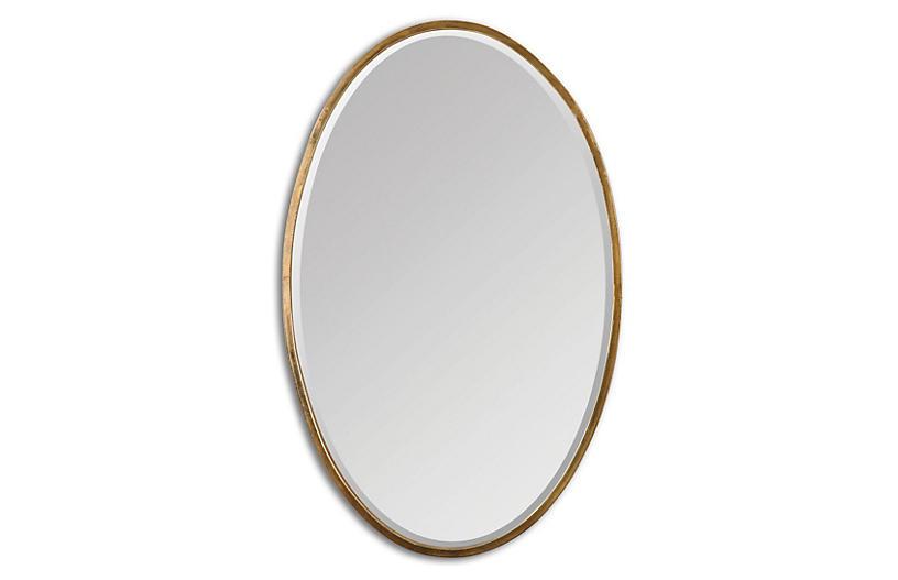 Lane Wall Mirror, Gold