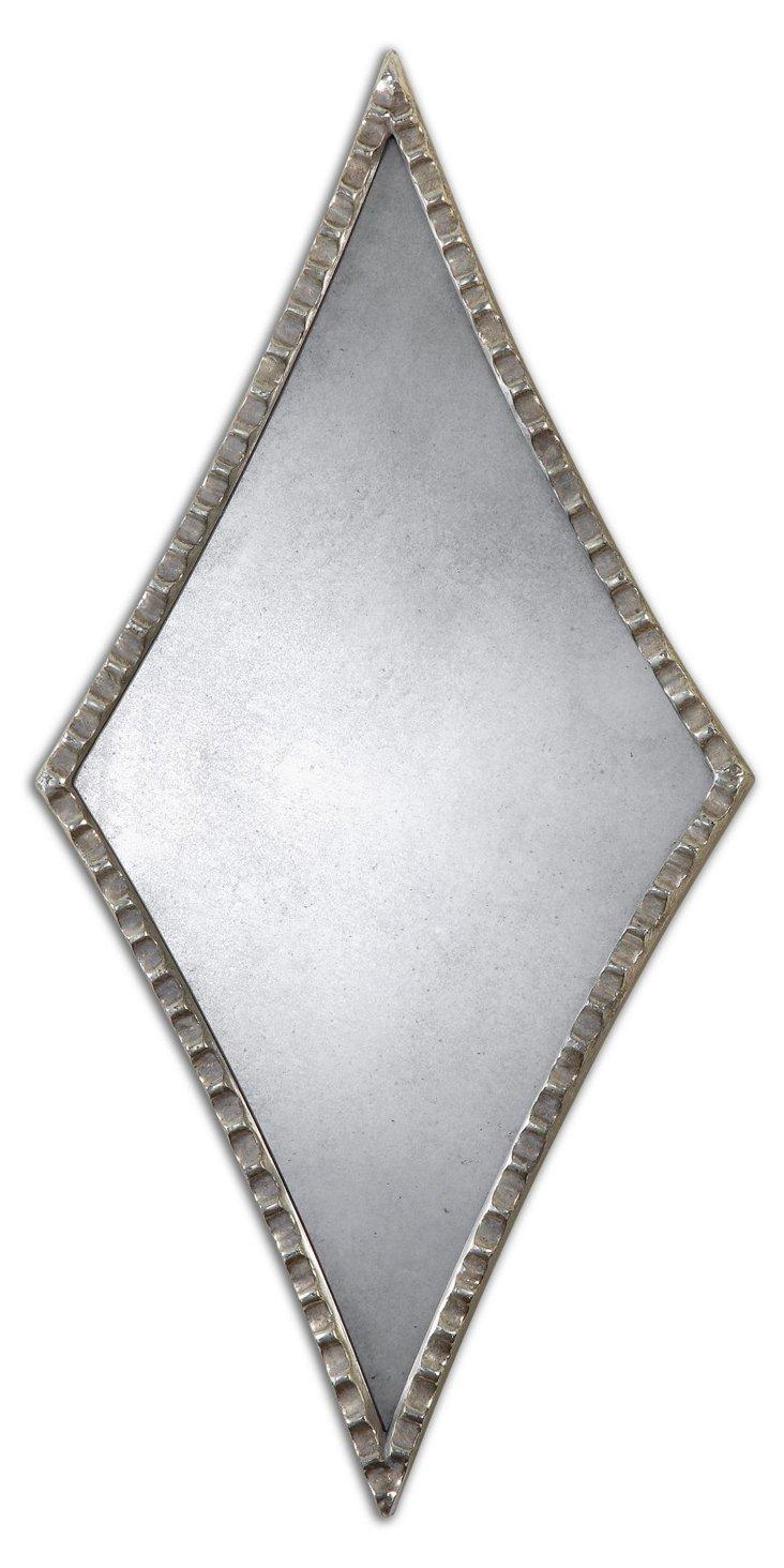 Empire Wall Mirror, Silver