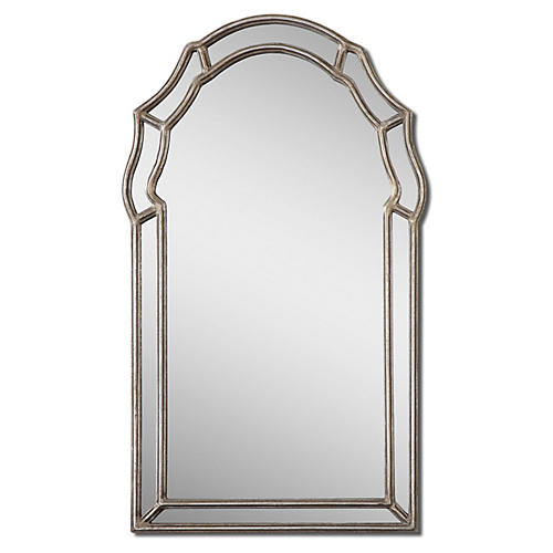 Piazza Wall Mirror, Silver Leaf