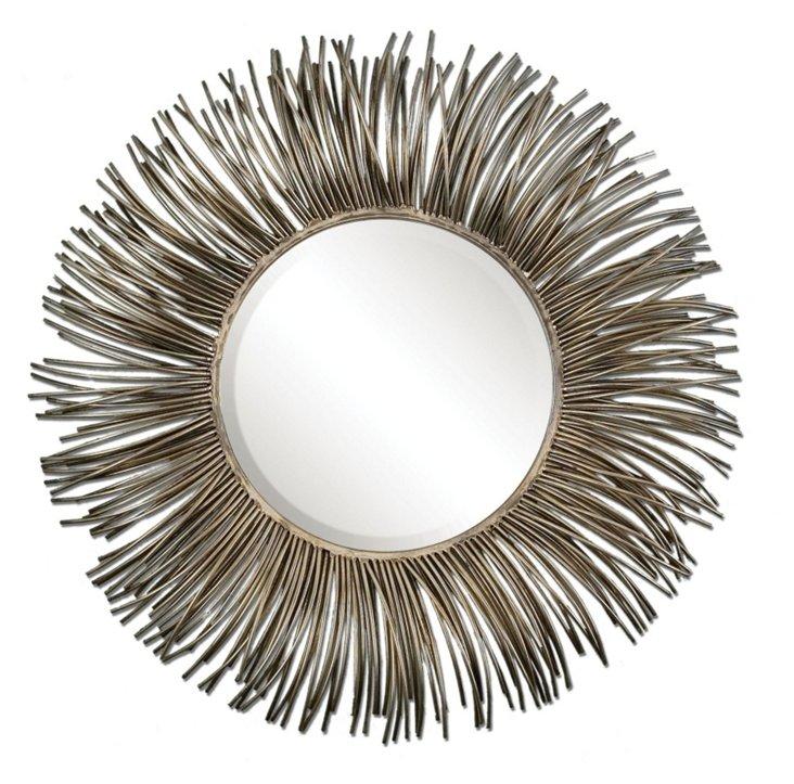 Trotman Wall Mirror, Nickel
