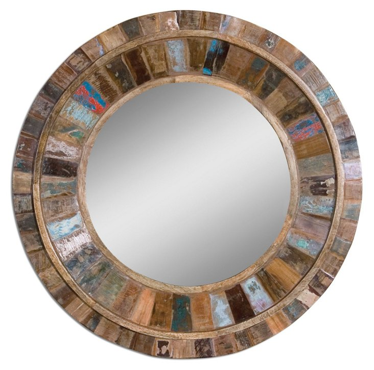 Oliver Wall Mirror, Natural