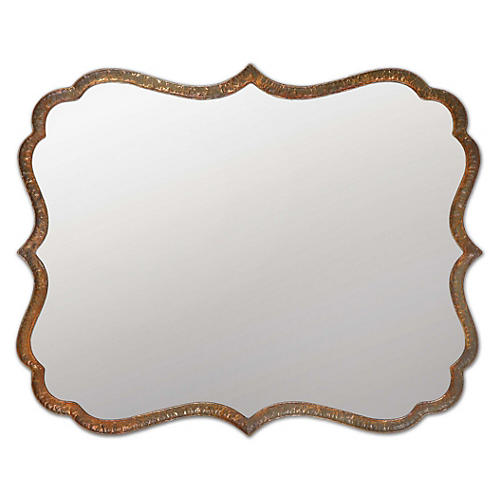 Harloff Wall Mirror, Copper