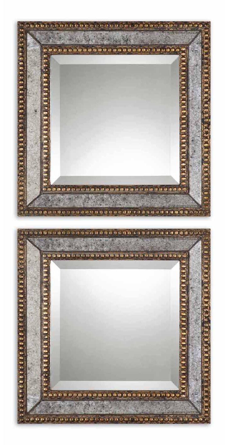 Walker Accent Mirror Set, Gold