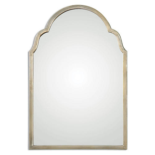 Madoka Wall Mirror, Gold Leaf