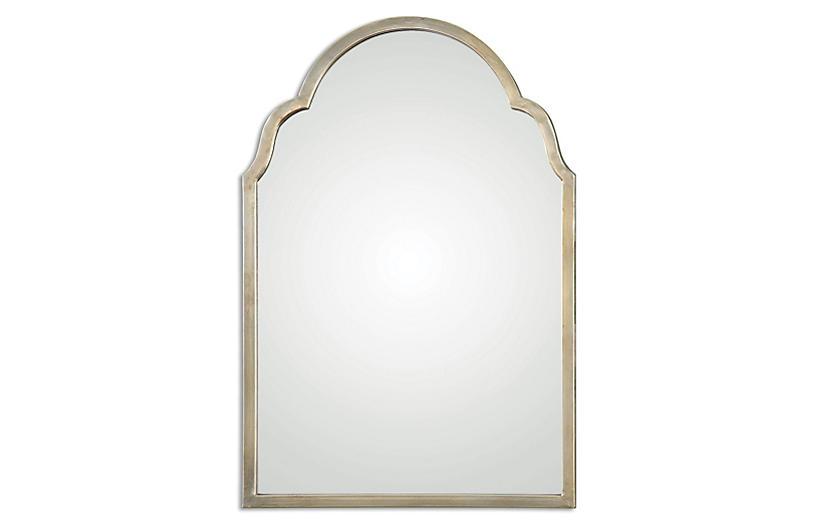 Madoka Wall Mirror, Gold Leaf
