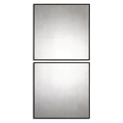 Matty Wall Mirrors, Gray