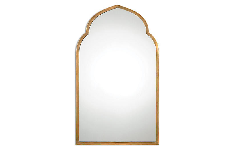 Arch Wall Mirror, Gold by One Kings Lane