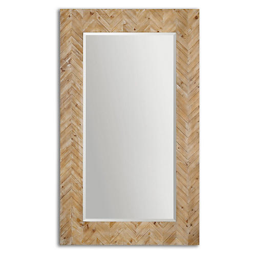 Mayville Floor Mirror, Natural