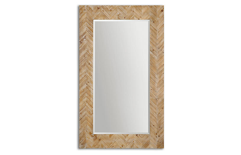 Mayville Floor Mirror - Natural