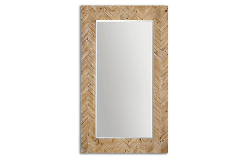 Mayville Floor Mirror, Natural