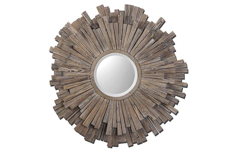 Dorian Wall Mirror, Walnut
