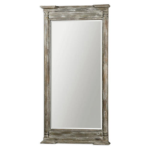 Delhi Floor Mirror, Ivory