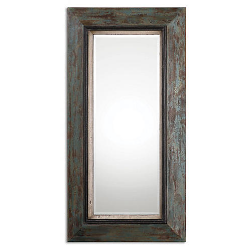Glen Floor Mirror, Teal