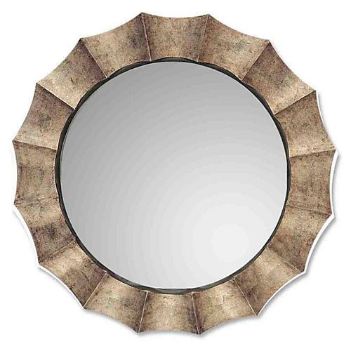 Queensbury Wall Mirror, Silver Leaf