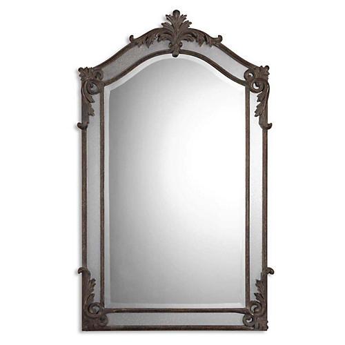 Wayne Wall Mirror, Aged Wood