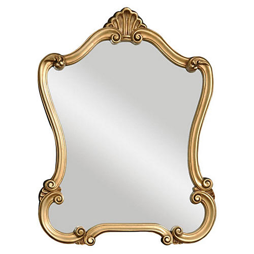 Warsaw Wall Mirror, Gold