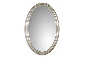 Basic Oval Mirror, Silver Leaf*