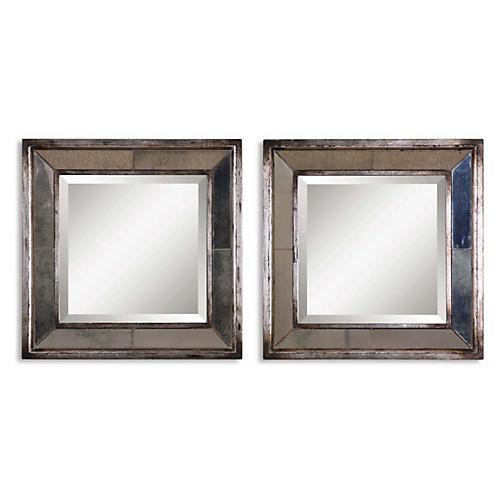 Davion Wall Mirrors, Gray