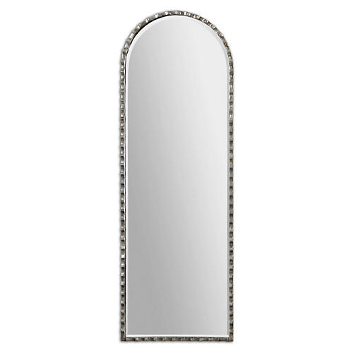 Gelston Oversize Wall Mirror, Plated Silver
