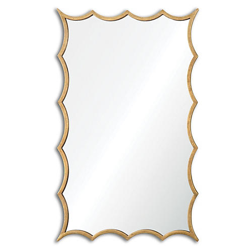 Dareios Wall Mirror, Gold Leaf