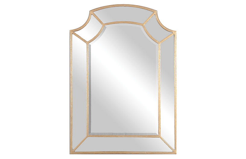 Jason Wall Mirror, Gold