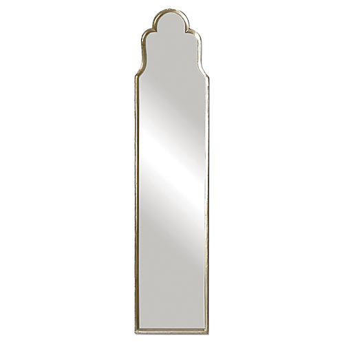 Paris Floor Mirror, Silver