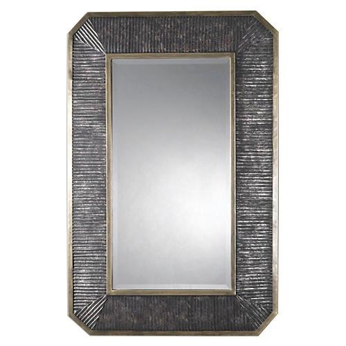 Baku Oversize Wall Mirror, Bronze