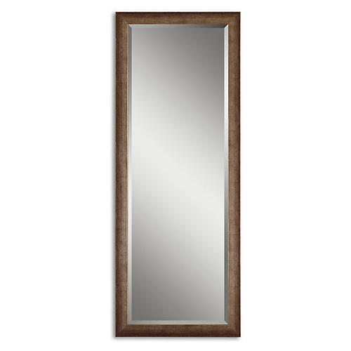 Talin Floor Mirror, Antiqued Silver