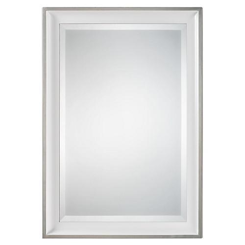 Minsk Wall Mirror, Silver Leaf