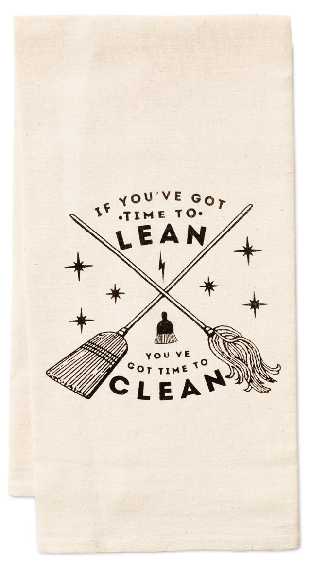 """Time to Lean"" Kitchen Towel"