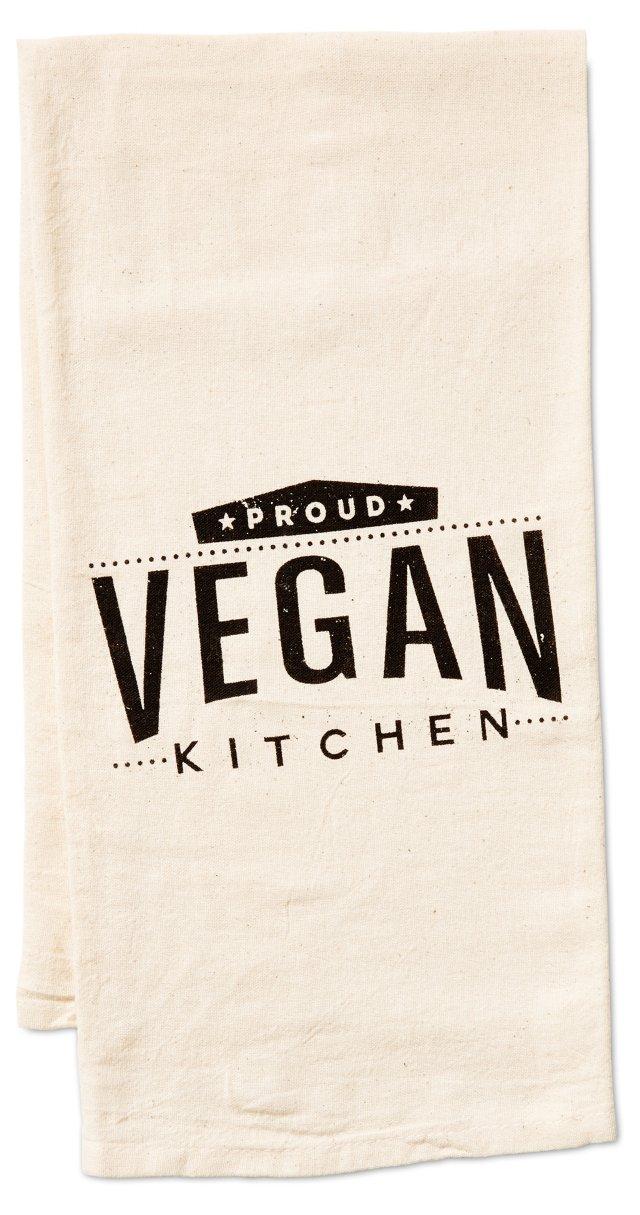 """""""Proud Vegan"""" Kitchen Towel"""