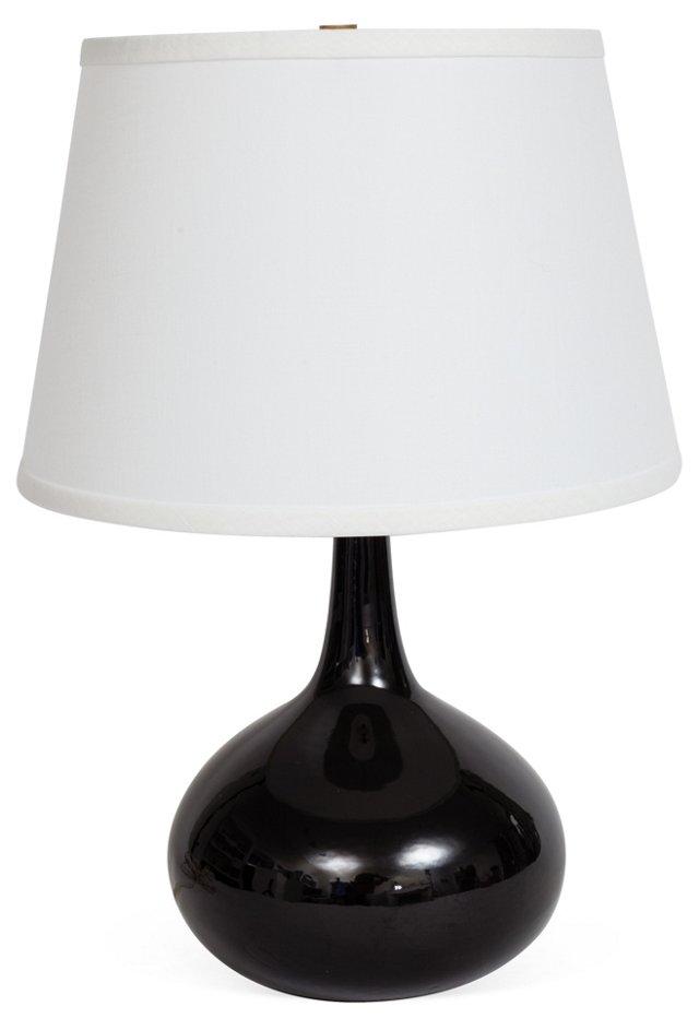 Small Black Midcentury Lamp