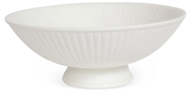White Footed Bowl