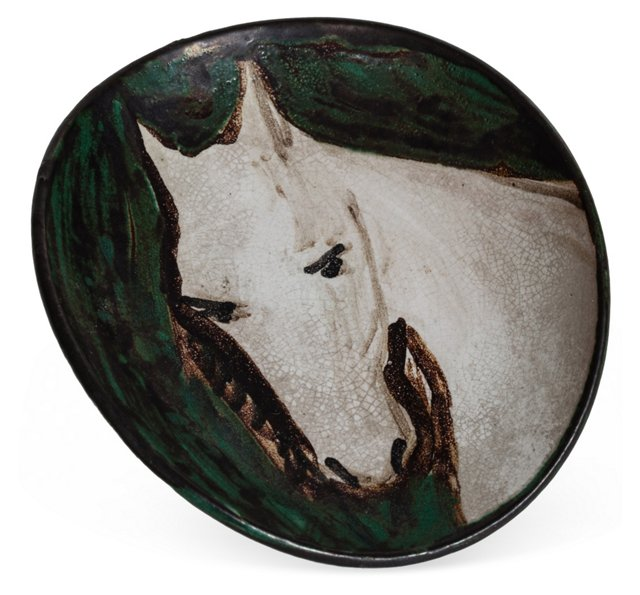 Small Vintage Horse Dish