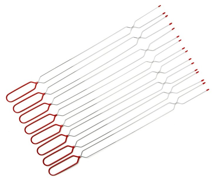 S/8 Marshmallow Roasting Forks, Red