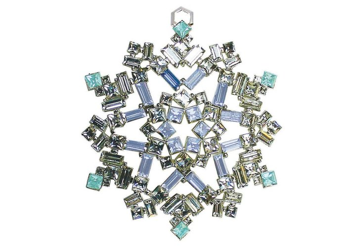 Crystal Ornament, Blue