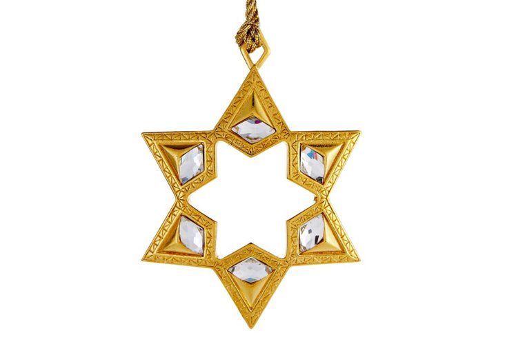 Vintage Star Charm Ornament, Gold