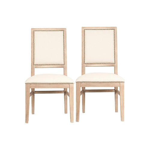 S/2 Roscoe Side Chairs, Stonewash