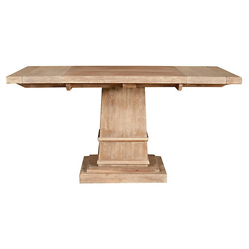 Alfie Pedestal Dining Table, Sandalwood