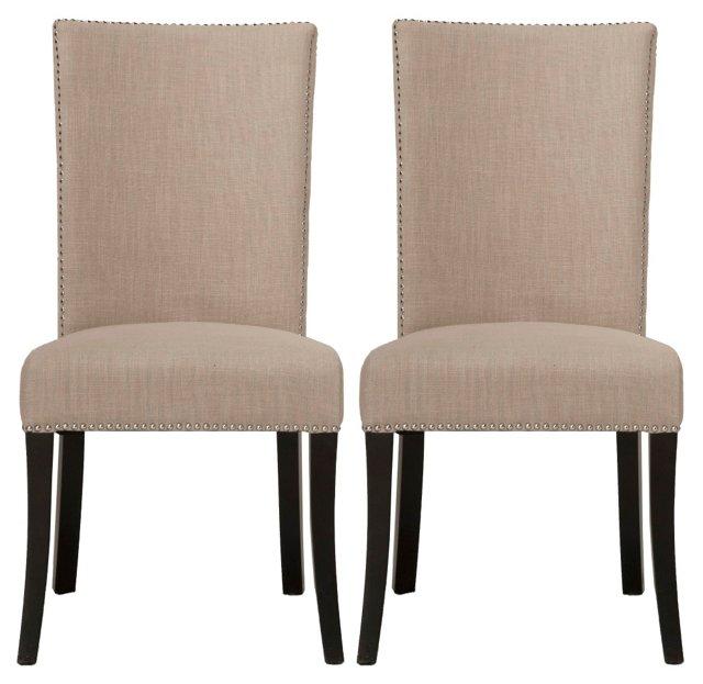 Staunton Side Chairs, Pair