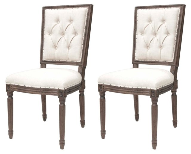 Ada Dining Side Chairs, Pair