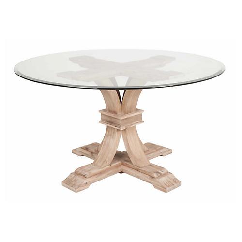Geneva Dining Table, Glass