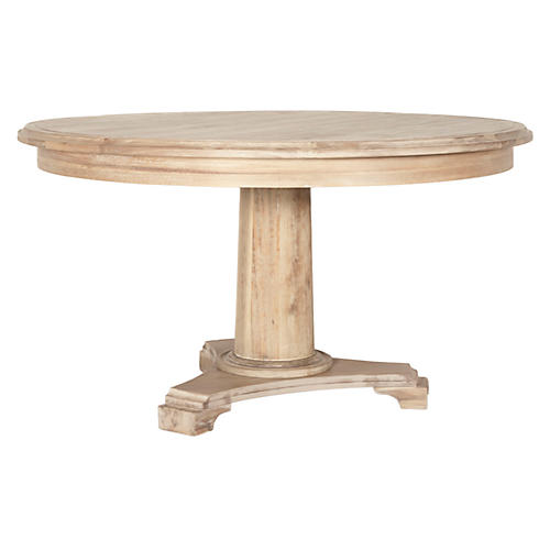 "Zoey 54"" Round Dining Table, Natural"