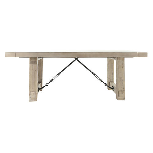 Darcy Extension Dining Table, Distressed White