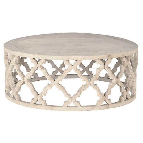 Maxime Round Coffee Table, Smoke Gray