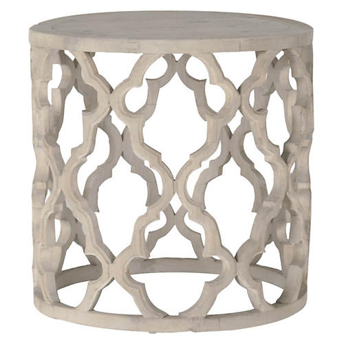 Maxime Side Table, Smoke Gray