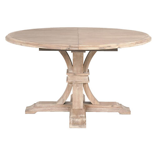 "Mark 54"" Round Extension Dining Table"