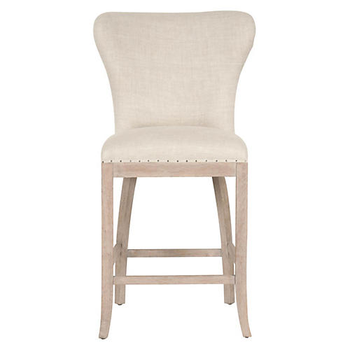 Jackson Counter Stool, Bisque Linen