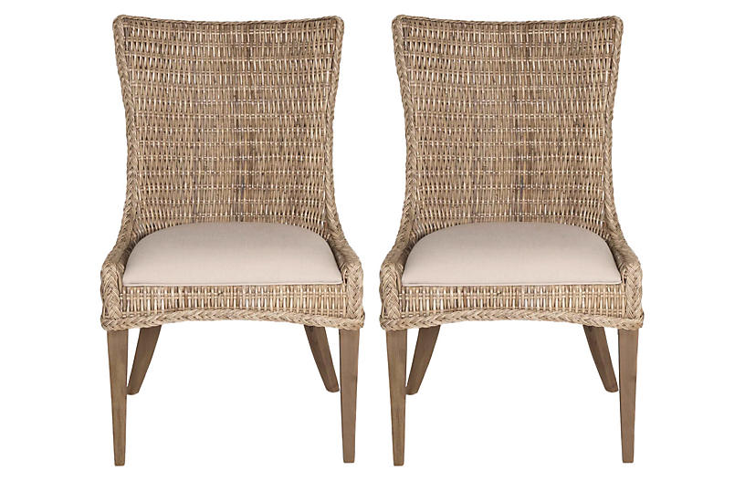 S/2 Greco Side Chairs, Sand